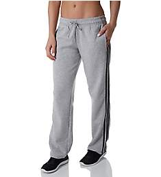 Adidas Essentials 3 Stripe Fleece Open Hem Pants BK3851