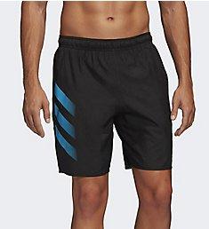 Adidas Bold 3 Stripe CLX 19 Inch Swim Short FJ3411