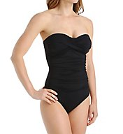 Anne Cole Live In Color Shirred One Piece Swimsuit MO005