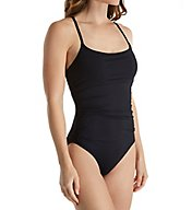 Anne Cole Live in Color Shirred Front One Piece Swimsuit MO057