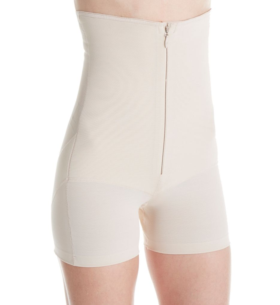 Annette Zip Front High Waist Boy Short Shaper 17524