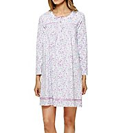 Aria Brushed Cotton Jersey Long Sleeve Short Nightgown 8017762