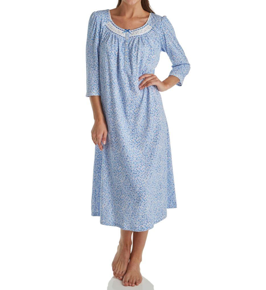 Aria Blue Geo 3/4 Sleeve Ballet Nightgown 8217803