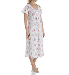 Aria Pink Floral Short Sleeve Ballet Nightgown 8217838