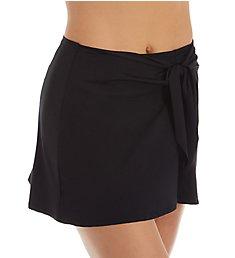 Becca Black Magic Tie Front Sarong Swim Skirt 8570071