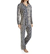 BedHead Pajamas Charcoal Lynx Long Sleeve PJ Set 2994
