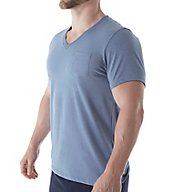 Bread and Boxers Jersey Short Sleeve Lounge V-Neck Shirt BNBUS305