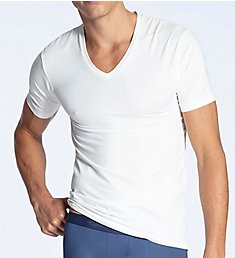 Calida 100% Natural Modern Fit V-Neck T-Shirt 14382