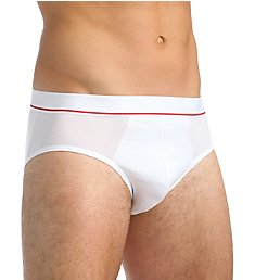 Calida Swiss Cotton Red Striped Accent Brief 22465