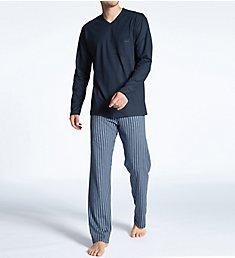 Calida Relax Imprint Cotton Pajama Pant Set 40580
