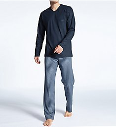 Calida Relax Imprint Cotton Pajama Pant Set 40580