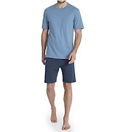 Calida Garry Comfort Fit Cotton Pajama Short Set 41084