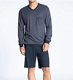 Calida Relax Streamline Pajama Short Set 41867