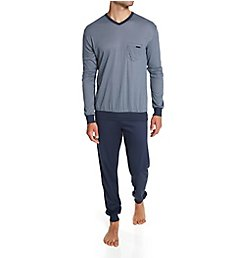 Calida Relax Choice Supima Cotton Pajama Pant Set 42167