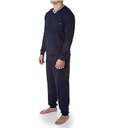 Calida Chill Out 100% Cotton Cuffed Pajama Set 43262
