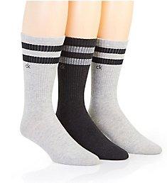 Calvin Klein Stripe Casual Crew Socks - 3 Pack 211CC01