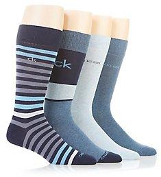 Calvin Klein Multi Stripe Dress Crew Socks - 4 Pack 211DR09