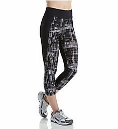 Calvin Klein Performance Print Blocked High Waist Crop Tight P7P9084