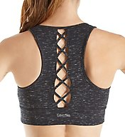 Calvin Klein Performance High Neck Lattice Back Sports Bra P7T2455