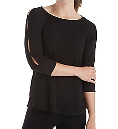 Calvin Klein Keyhole Sleeve Curved Hem Pullover Top PF8T519