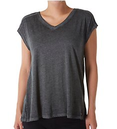 Calvin Klein Short Sleeve V-Neck Gathered Back Tee PF8T552