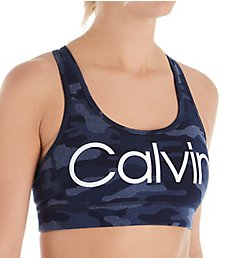 Calvin Klein Camo Print Racerback Sports Bra PF9T130