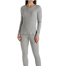 Calvin Klein Long Sleeve Top & Pant Sleep Set QS5746