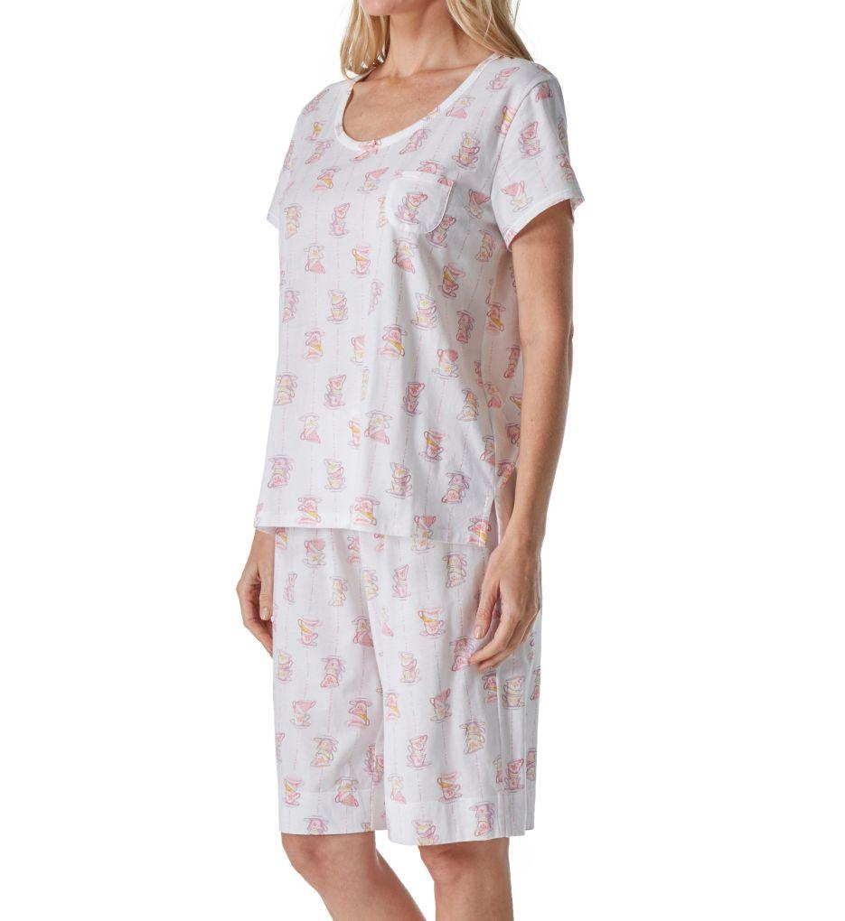 Carole Hochman Key Knit Bermuda PJ Set 1811350