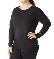 Champion Plus Size French Terry Boatneck Crew Top QW1239
