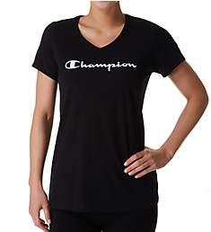 Champion Jersey V-Neck Short Sleeve Graphic Tee W5006G