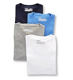 Chaps Extended Size Essential V-Neck T-Shirts - 4 Pack CUV2P4