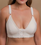 Cottonique Latex Free Front Closure Support Bra W12224
