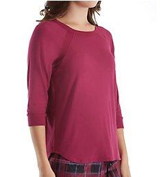 DKNY Fleece Market 3/4 Sleeve Top 2013490
