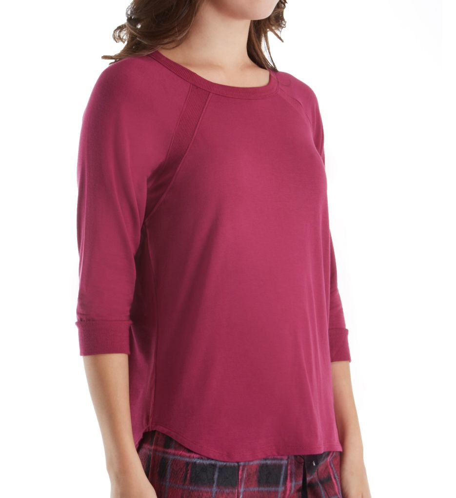 DKNY Fleece Market 3/4 Sleeve Top 2013490