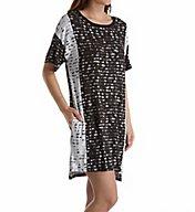 DKNY Lace Effects Short Sleeve Sleepshirt 2319234