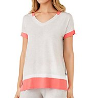 DKNY Color Blocked Short Sleeve Lounge Tee 2413409