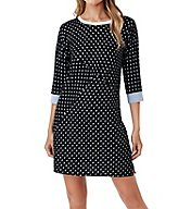 DKNY Resort Lounging 3/4 Sleeve Sleepshirt 3313487