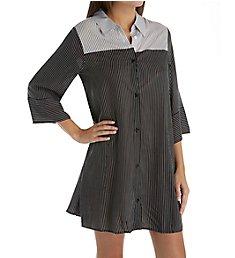Donna Karan Sleepwear Black Stripe Sleepshirt D236924