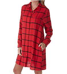 Donna Karan Sleepwear Flannel Nights Sleepshirt D236930
