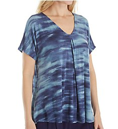Donna Karan Sleepwear Waves Short Sleeve Top D246909