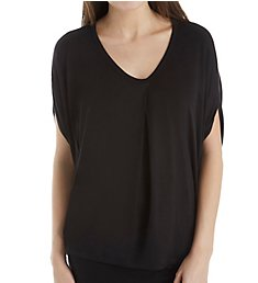 Donna Karan Sleepwear Drapey Short Sleeve Top D246916