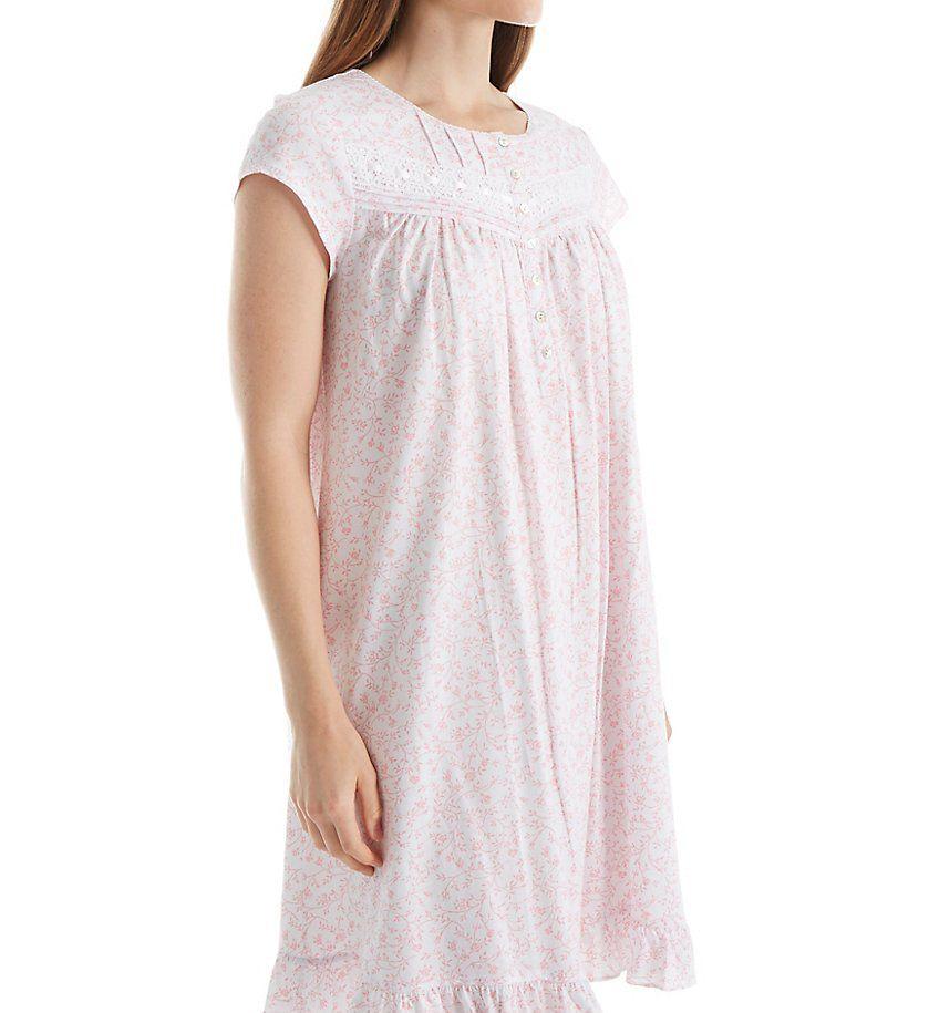 Eileen West Cap Sleeve Rose Short Nightgown 5016070