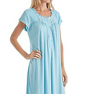 Eileen West Seaglass Modal Short Sleeve Waltz Nightgown 5016127
