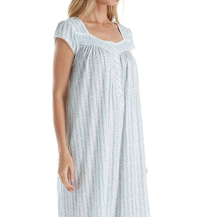 Eileen West Seaglass Floral Modal Waltz Nightgown 5016157