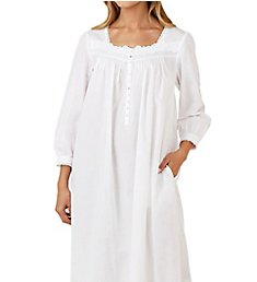 Eileen West Solid Cotton Lawn Long Sleeve Ballet Nightgown 5016195
