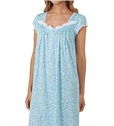 Eileen West Blue Floral Waltz Nightgown 5019847