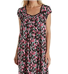 Eileen West Black Rose Modal Waltz Nightgown 5019855