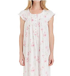 Eileen West Floral Scroll Cotton Modal Waltz Nightgown 5019856