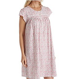 Eileen West Floral Jersey Short Nightgown 5019858