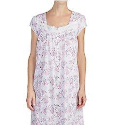 Eileen West Pink Bouquet 100% Cotton Sheer Jersey Gown 5019909
